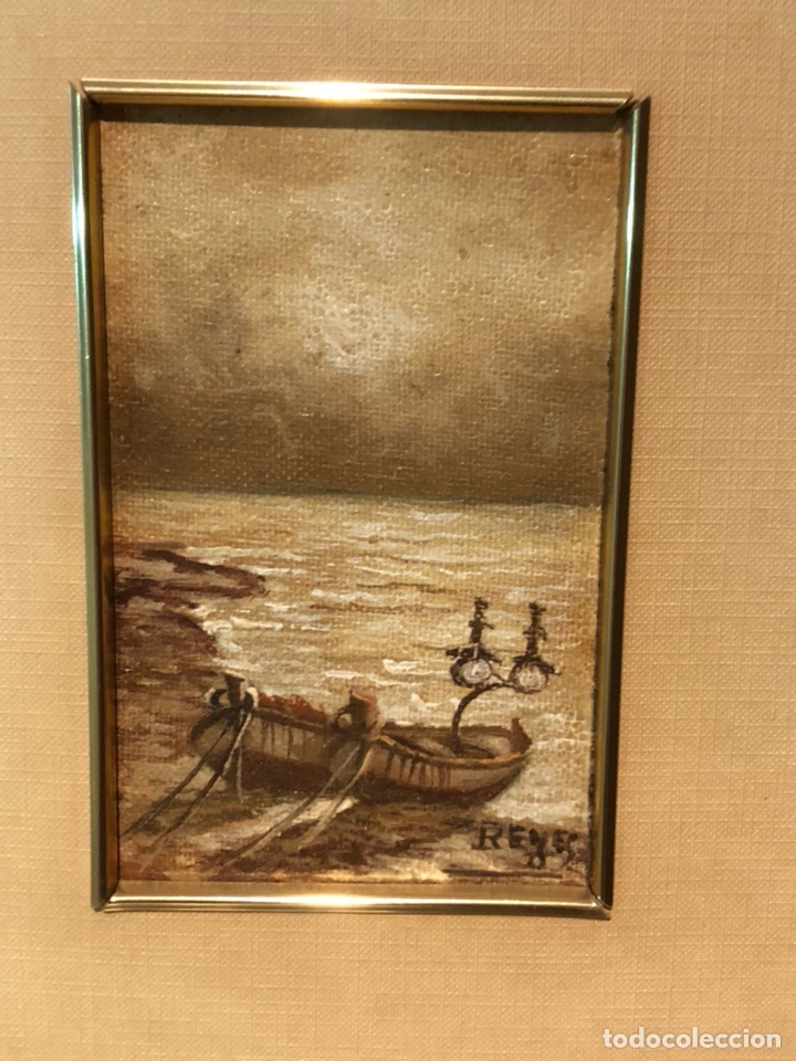 Arte: Lote de 2 óleos sobre tabla, firmados - Foto 2 - 244431605