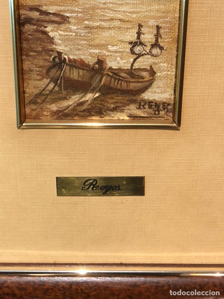 Arte: Lote de 2 óleos sobre tabla, firmados - Foto 3 - 244431605