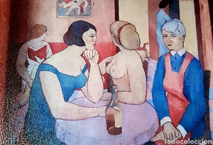 HERMINIO SENTIS. CAFÈ MOULIN ROUGE.1950 (Arte - Pintura - Pintura al Óleo Contemporánea )