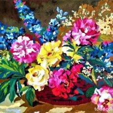 Arte: CESTO FLORAL - ANONIMO. Lote 244534290