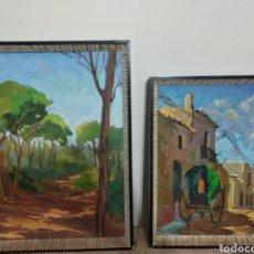 Arte: ANTIGUOS ÓLEOS SOBRE MADERA J.DE LA VEGA. Lote 244583510
