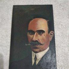 Arte: ANTIGUO ÓLEO SOBRE TABLET DE CAOBA ,DE PRINCIPIOS DEL S,XIX GONZALES BYASS. Lote 244595260
