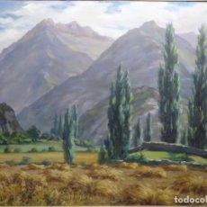 Arte: ÓLEO SOBRE TELA DE JOAN DUCH.VALL DE PANTICOSA. AÑOS 50.. Lote 244607600