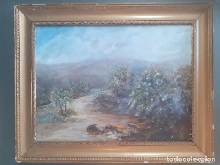 OLEO, PAISAJE CAMPIÑA INGLESA. MEDIADOS S.XIX. (Arte - Pintura - Pintura al Óleo Moderna siglo XIX)