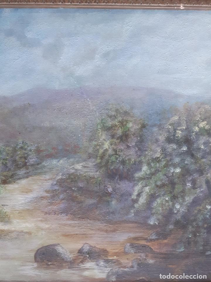 Arte: OLEO, PAISAJE CAMPIÑA INGLESA. MEDIADOS S.XIX. - Foto 3 - 197432831