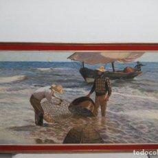 Arte: ESPECTACULAR CUADRO DE PESCADORES ANTIGUO. Lote 244869395