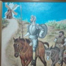 Arte: RETRATO DON QUIJOTE Y SANCHO PANCHA. Lote 244925875