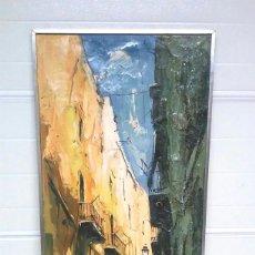 Arte: PINTURA AL ÓLEO OBACH CARNÉ. MED. 62 X 132 CM. Lote 245071795