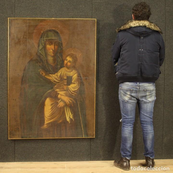 Arte: Antigua Virgen con el Niño del siglo XVII - Foto 3 - 245088695