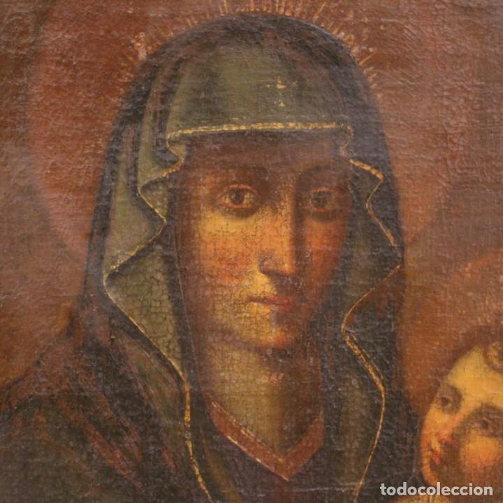 Arte: Antigua Virgen con el Niño del siglo XVII - Foto 6 - 245088695
