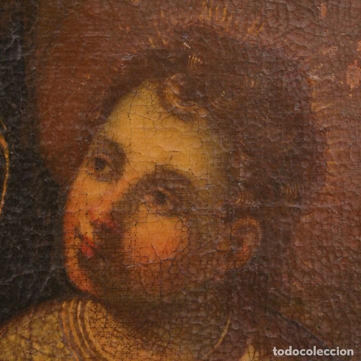 Arte: Antigua Virgen con el Niño del siglo XVII - Foto 7 - 245088695