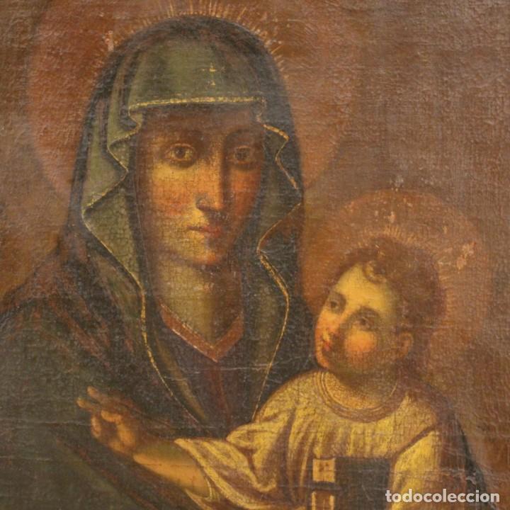 Arte: Antigua Virgen con el Niño del siglo XVII - Foto 9 - 245088695