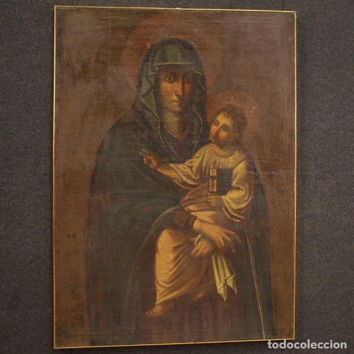 Arte: Antigua Virgen con el Niño del siglo XVII - Foto 12 - 245088695