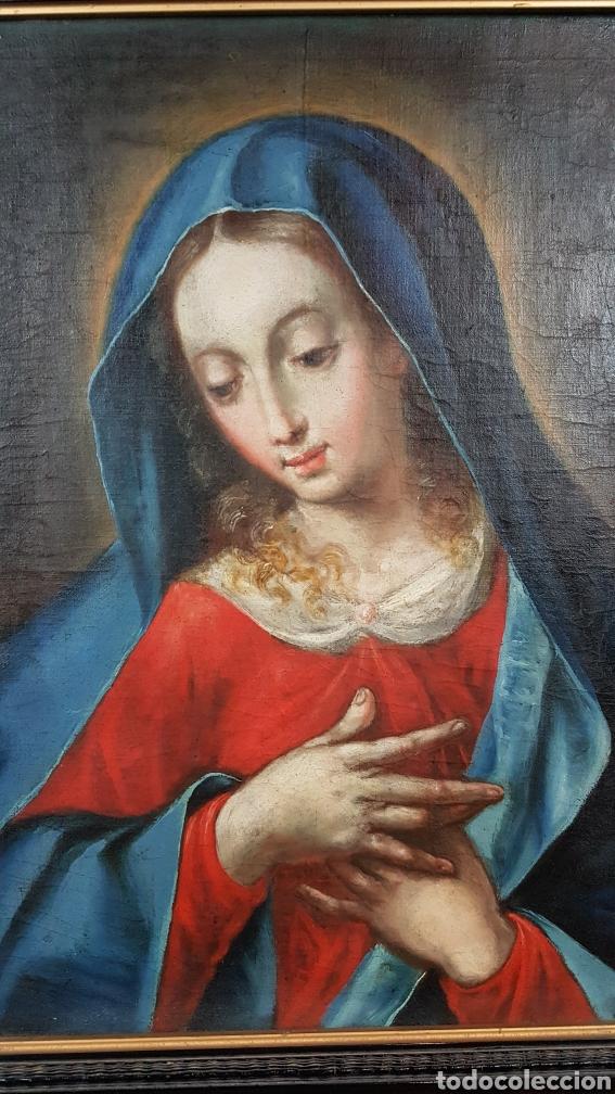 Arte: OLEO SOBRE LIENZO, VIRGEN PURISIMA, ESCUELA ANDALUZA, SEVILLA, FIN. S. XVII - Ppps. XVIII. - Foto 2 - 245116720