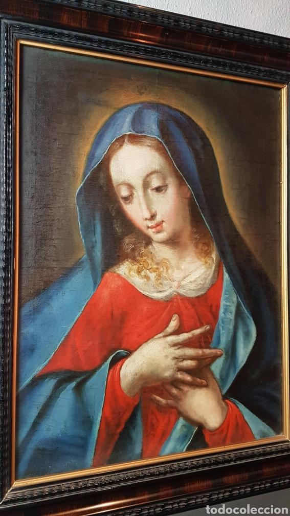 Arte: OLEO SOBRE LIENZO, VIRGEN PURISIMA, ESCUELA ANDALUZA, SEVILLA, FIN. S. XVII - Ppps. XVIII. - Foto 3 - 245116720