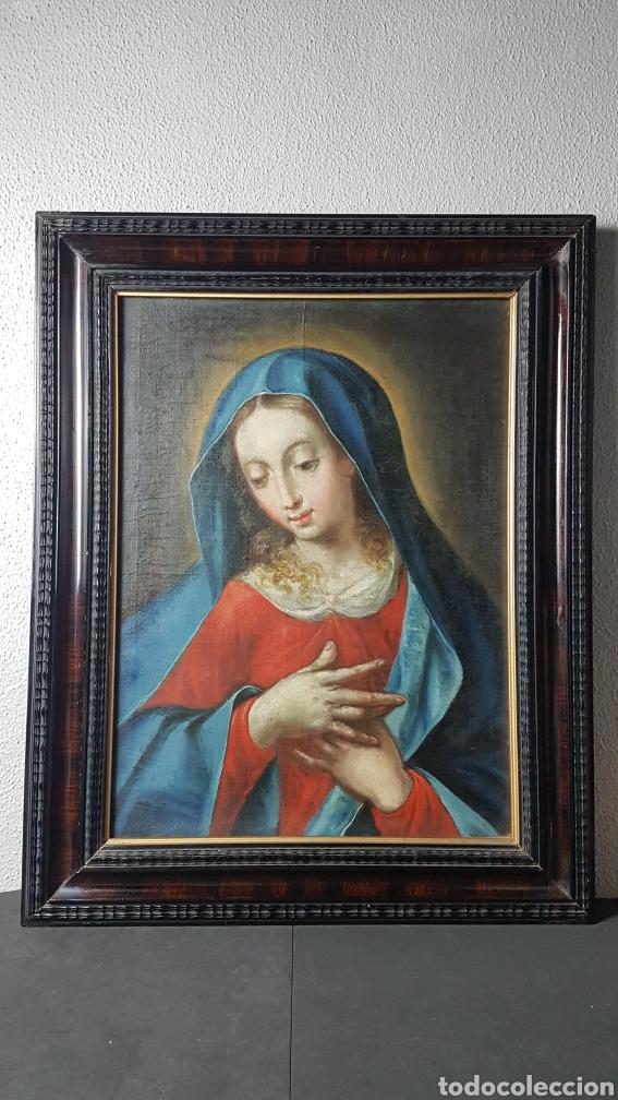 Arte: OLEO SOBRE LIENZO, VIRGEN PURISIMA, ESCUELA ANDALUZA, SEVILLA, FIN. S. XVII - Ppps. XVIII. - Foto 6 - 245116720