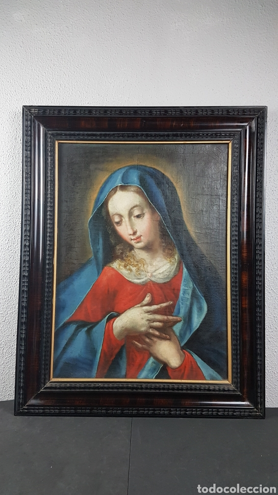 Arte: OLEO SOBRE LIENZO, VIRGEN PURISIMA, ESCUELA ANDALUZA, SEVILLA, FIN. S. XVII - Ppps. XVIII. - Foto 7 - 245116720