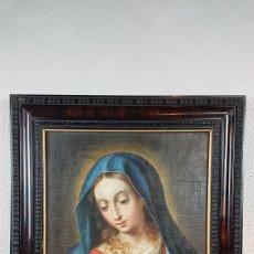Arte: OLEO SOBRE LIENZO, VIRGEN PURISIMA, ESCUELA ANDALUZA, SEVILLA, FIN. S. XVII - PPPS. XVIII.. Lote 245116720