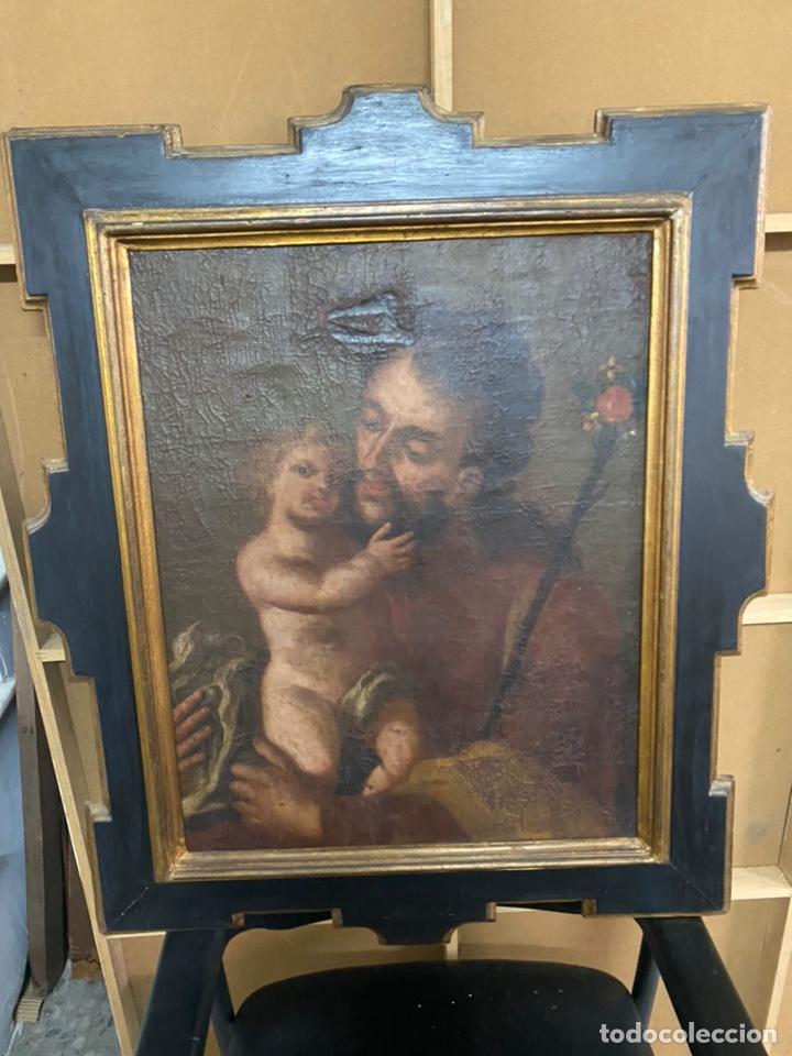ANTIGUA PINTURA AL ÓLEO SOBRE TABLA SIN FIRMA SXVIII (Arte - Pintura - Pintura al Óleo Antigua siglo XVIII)