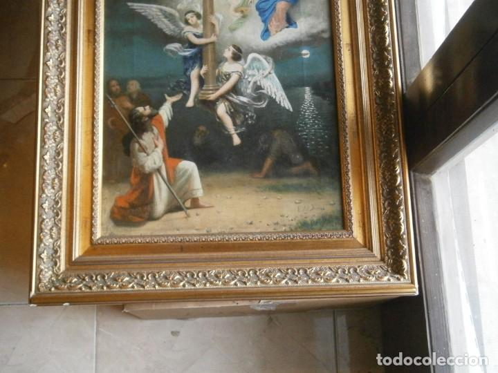 Arte: PRECIOSO CUADRO PINTADO, MUY ANTIGUO. (FIRMADO) - Foto 3 - 245173255
