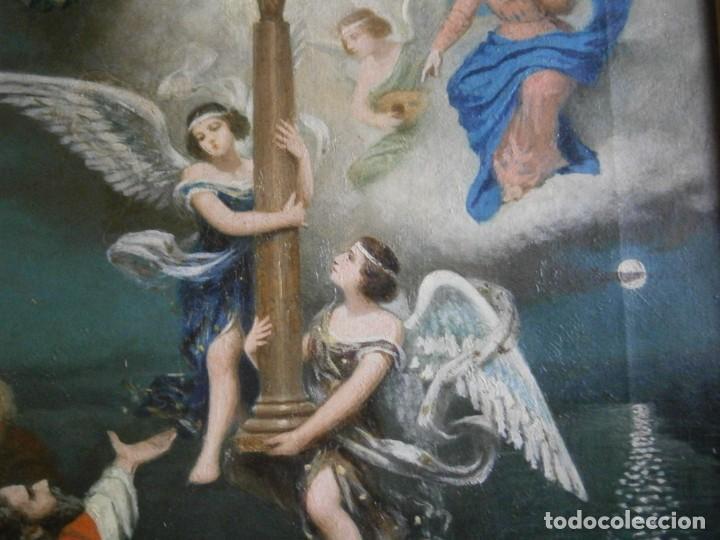 Arte: PRECIOSO CUADRO PINTADO, MUY ANTIGUO. (FIRMADO) - Foto 15 - 245173255