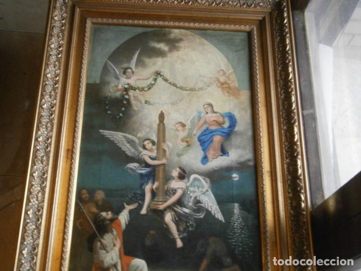 Arte: PRECIOSO CUADRO PINTADO, MUY ANTIGUO. (FIRMADO) - Foto 30 - 245173255