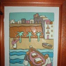 Arte: ANTIGUO CUADRO CERAMICA ALICANTE FIRMADO. Lote 245239650
