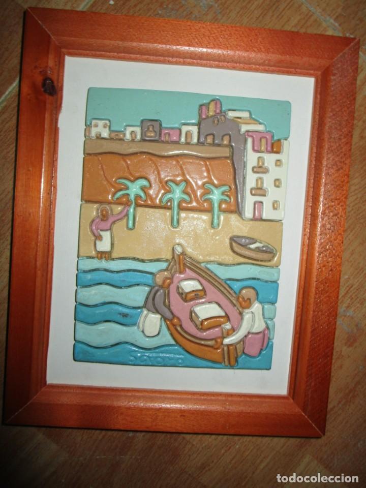 Arte: ANTIGUO CUADRO CERAMICA ALICANTE FIRMADO - Foto 5 - 245239650