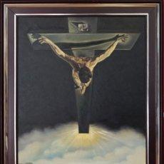 Arte: ÓLEO / LIENZO EL CRISTO DE DALÍ REALIZADO POR JUAN BADENES.. Lote 245398070