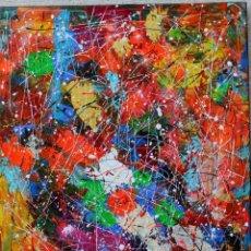 Arte: ROVIRA RUSIÑOL ACRILICO ABSTRACTO ORIGINAL FIRMADO Y CERTIFICADO. Lote 245424965