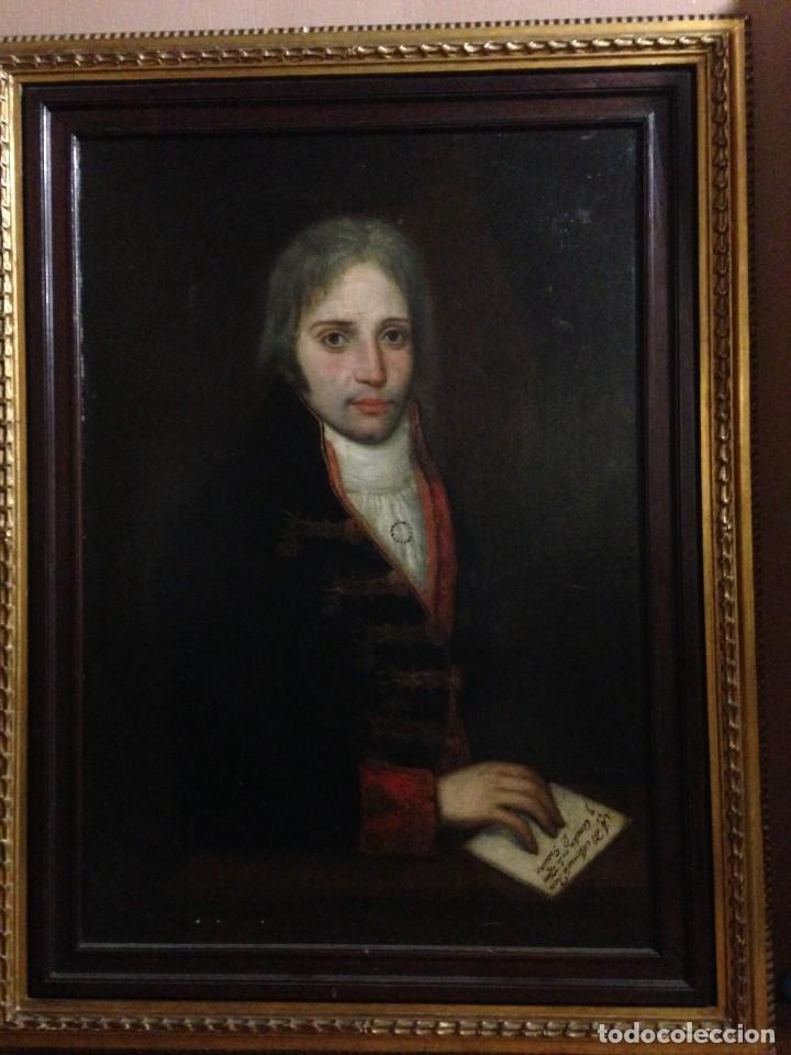 RETRATO DE CABALLERO. CIRCULO DE AGUSTIN ESTEVE. (Arte - Pintura - Pintura al Óleo Antigua siglo XVIII)