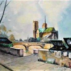 Arte: PARIS Y NOTRE DAME JAVIER MIRA 1927 -2001. Lote 245500550