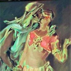 Arte: ESCENA DE AMANTES FIRMADO GODELLA 1910. Lote 245502335