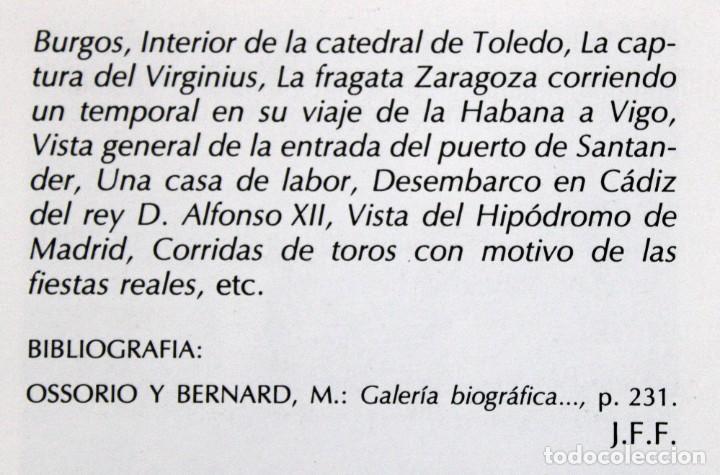 Arte: MANUEL FERNÁNDEZ SANAHUJA (Madrid, 1835 - 1884) OLEO SOBRE TELA DEL AÑO 1877. CATEDRAL DE BURGOS - Foto 36 - 236548955