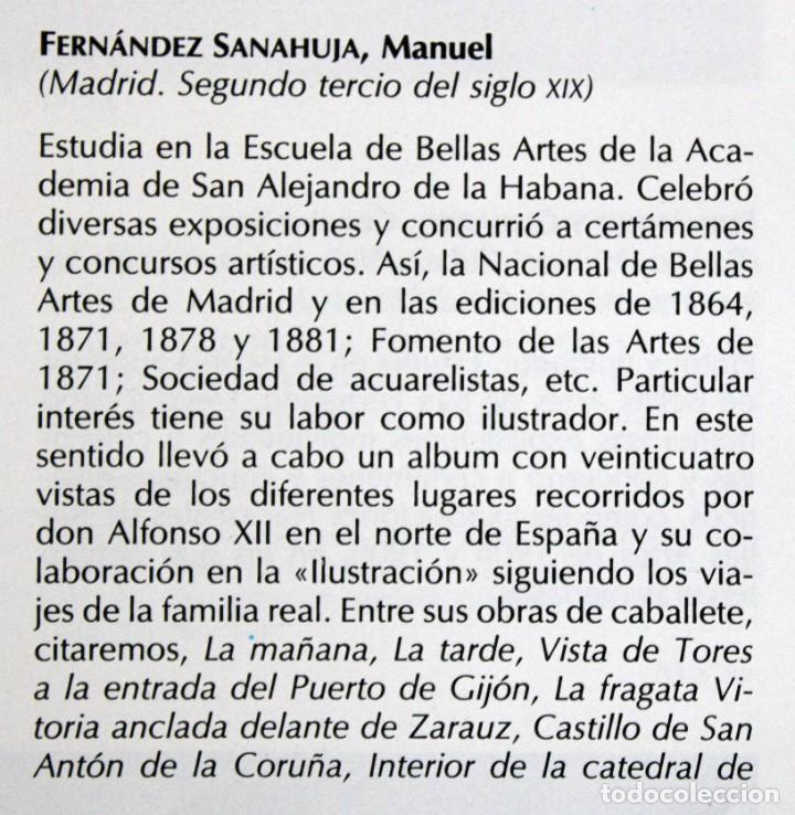 Arte: MANUEL FERNÁNDEZ SANAHUJA (Madrid, 1835 - 1884) OLEO SOBRE TELA DEL AÑO 1877. CATEDRAL DE BURGOS - Foto 35 - 236548955
