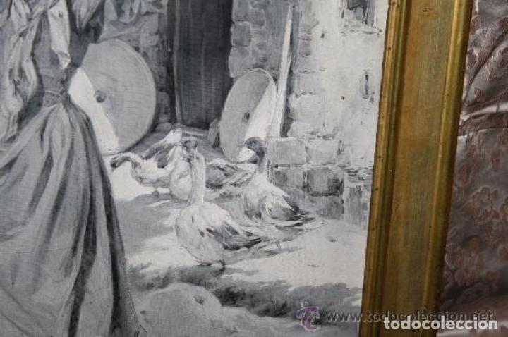 Arte: MUJER CON CANTARO. OLEO-GRISALLA SOBRE LIENZO. JOSEP TRIADÓ I MAYOL. SIGLO XX - Foto 3 - 245923800