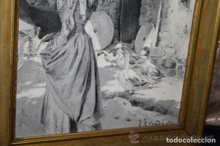 Arte: MUJER CON CANTARO. OLEO-GRISALLA SOBRE LIENZO. JOSEP TRIADÓ I MAYOL. SIGLO XX - Foto 5 - 245923800