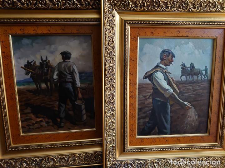 PAREJA OLEOS SOBRE LIENZO EL SEMBRADOR (Arte - Pintura - Pintura al Óleo Contemporánea )