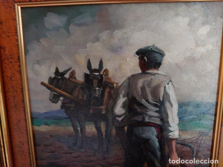 Arte: PAREJA OLEOS SOBRE LIENZO EL SEMBRADOR - Foto 7 - 245967630