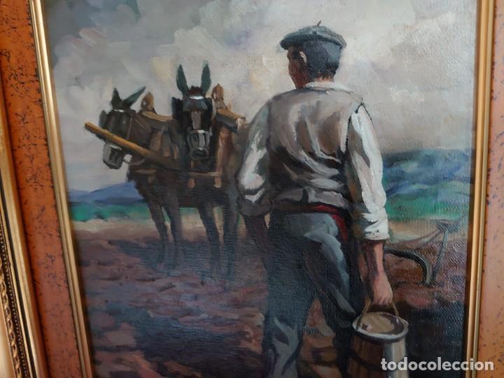 Arte: PAREJA OLEOS SOBRE LIENZO EL SEMBRADOR - Foto 14 - 245967630