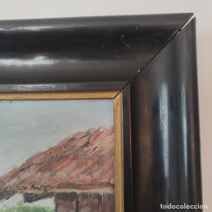 Arte: Oleo sobre lienzo. Paisaje popular. Hórreos asturianos. Firmado B. Carriedo. Siglo XX. - Foto 5 - 245967710