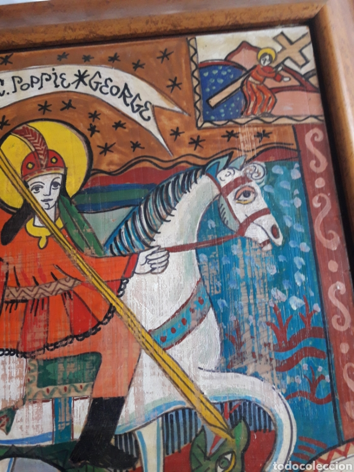Arte: San Jorge, oleo sobre madera, firmado Simona Pop, 78 - Foto 2 - 246077145