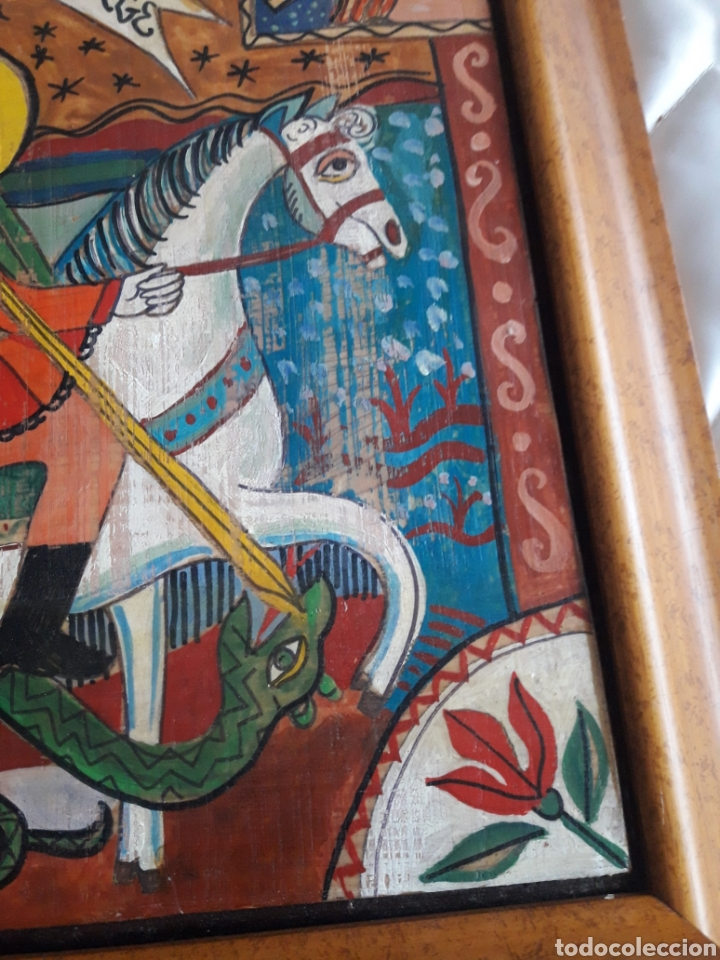 Arte: San Jorge, oleo sobre madera, firmado Simona Pop, 78 - Foto 4 - 246077145