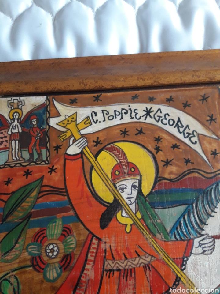 Arte: San Jorge, oleo sobre madera, firmado Simona Pop, 78 - Foto 5 - 246077145
