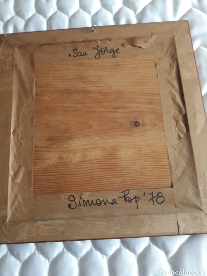 Arte: San Jorge, oleo sobre madera, firmado Simona Pop, 78 - Foto 6 - 246077145
