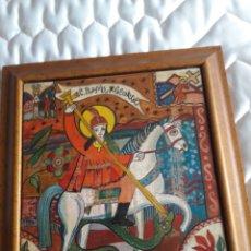 Arte: SAN JORGE, OLEO SOBRE MADERA, FIRMADO SIMONA POP, 78. Lote 246077145