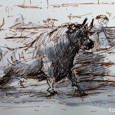 Arte: DIBUJOS IRREPETIBLES. PLUMILLAS TAURINAS.. Lote 246086080