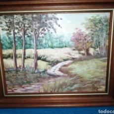 Arte: CUADRO ÓLEO SOBRE TABLA, FIRMADO POR REY , BOSQUE OTOÑAL.. Lote 246099665