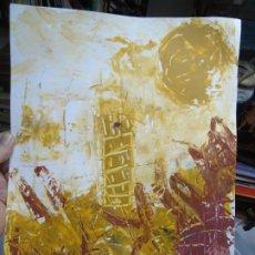 Arte: TORRE DE HÉRCUES POR EL CHANO MIDE 30 X 41CM. ART-BRUT ÓLEO SOBRE CARTULINA EL CHANO. Lote 246115385