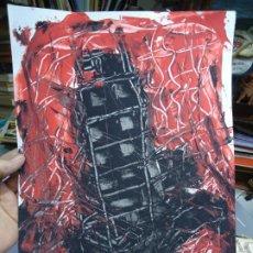 Arte: TORRE DE HÉRCUES POR EL CHANO MIDE 30 X 41CM. ART-BRUT ÓLEO SOBRE CARTULINA EL CHANO. Lote 246115950